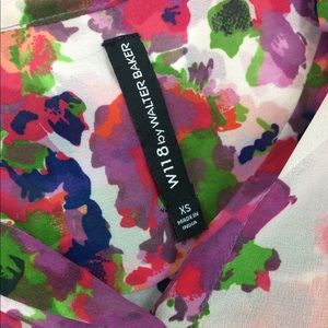 W118 by Walter Baker Tops - W118 by Walter Baker sheer floral color blouse-XS